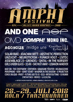 Amphi Festival 2018 - Vorverkaufskontingent erschöpft & Running Order online