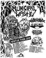 MUNICIPAL WASTE, TOXIC HOLOCAUST, ENFORCER, SKELETAL REMAINS auf Tour