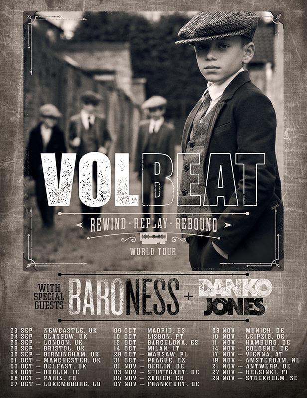 volbeat tourposter